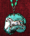 Indian Pony on Turquoise necklace